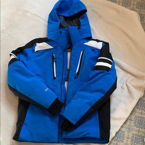 Obermeyer teen ski jacket in blue/black (10/12)